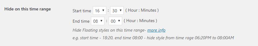 Hide based on Time range e.g.