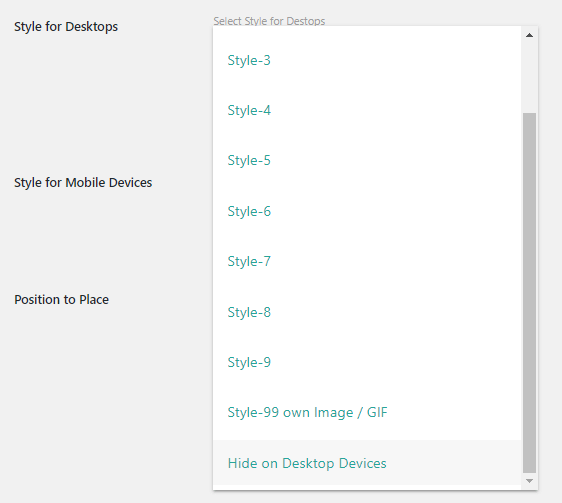 hide styles for desktop devices